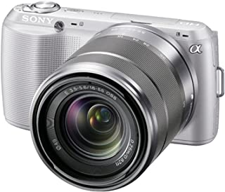 Sony NEX C3KS Systemkamera (16,2 Megapixel, 7,5 cm (3 Zoll) Display, HD ready, Live View, bildstabilisiert) Kit inkl. 18 55 mm Objektiv silber
