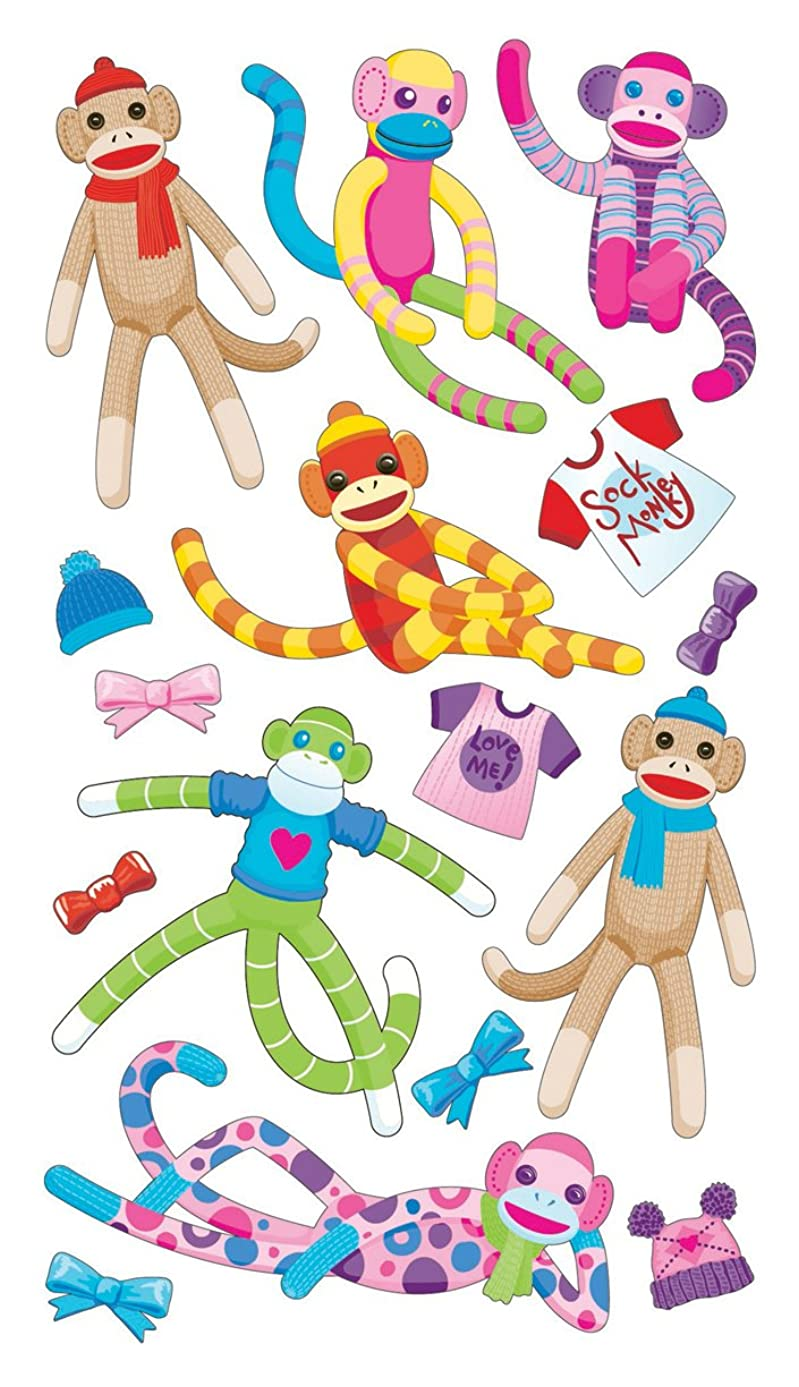 Sticko Sock Monkey Stickers