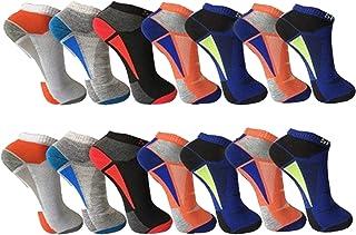 BestBuy-Shop - 12 pares de calcetines cortos de hombre para deporte y ocio, alto porcentaje de algodón, diseñados en Alema...
