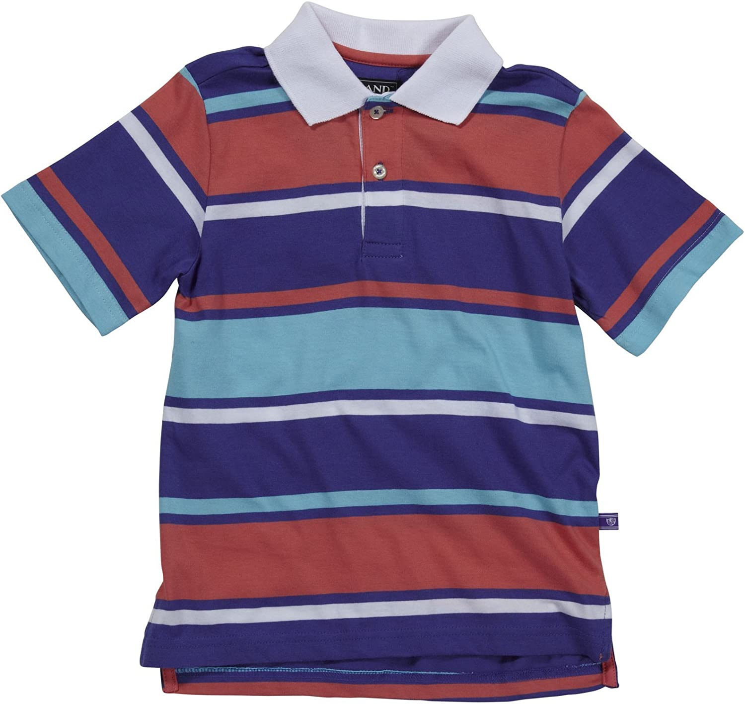 E-land Kids Boys' Rugby Polo (Toddler/Kids) - Heliotrope - 4T