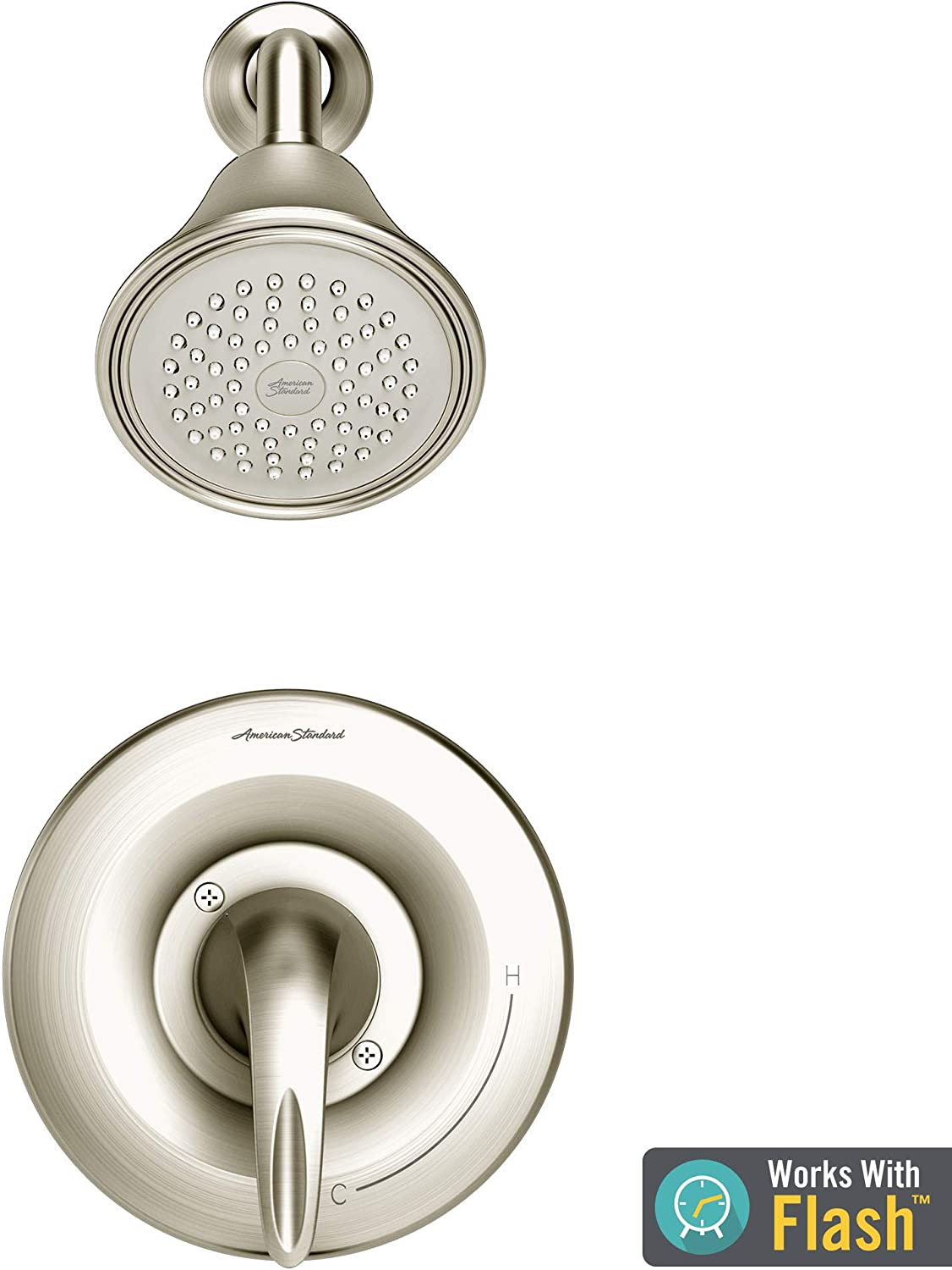 American Standard TU385501.295 Reliant 3 Shower Only Trim Kit with Cartridge, Brushed Nickel
