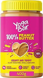 Yogabar 100% Pure Peanut Butter | Creamy & Yummy Unsweetened | Slow Roasted | Non-GMO Premium Peanuts | No Added Sugar - 4...