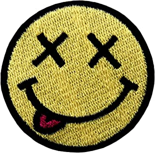 ZEGIN Smiley Smile Happy Face Embroidered Badge Iron On Sew On Patch