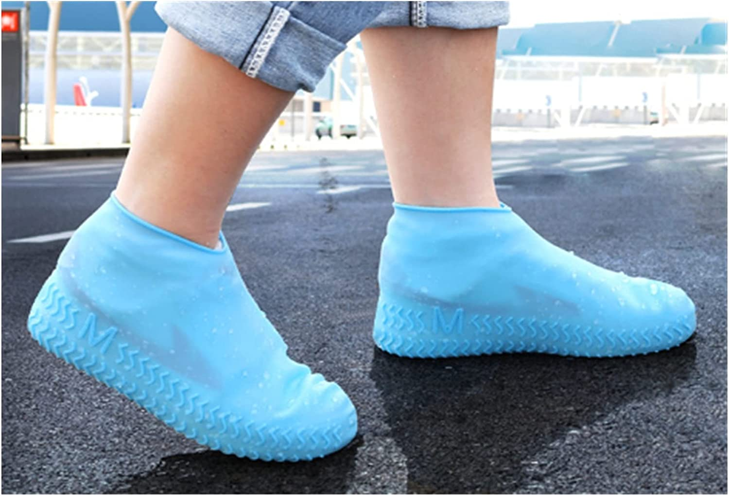 WYDMBH Shoes Cover Sale price Thicken Silicone Rain Waterproof Large discharge sale Shoe Boots C