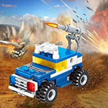 INOSA Building Bricks Toys, Robot Building Blocks Kits Compatible with All Major Brands, Bulk Basic Bricks Toys, Birthday Gift for Boys, Girls, Kids(Explosion-Proof Police car)