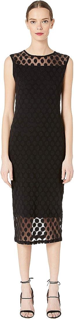 Polka Dot Tulle Print Sleeveless Dress