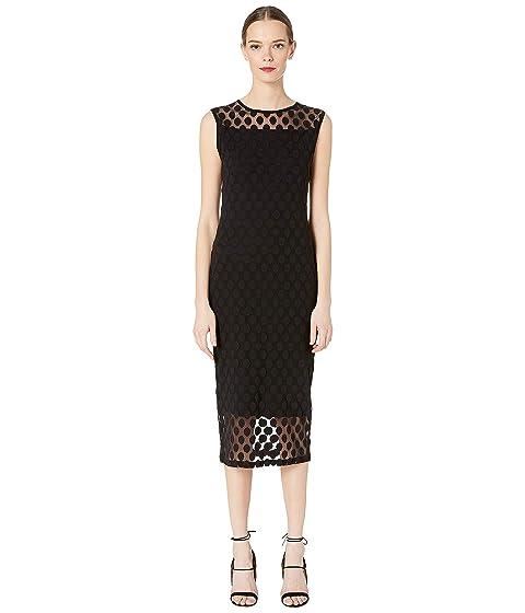 fe2d2a4013 FUZZI Polka Dot Tulle Print Sleeveless Dress at Luxury.Zappos.com