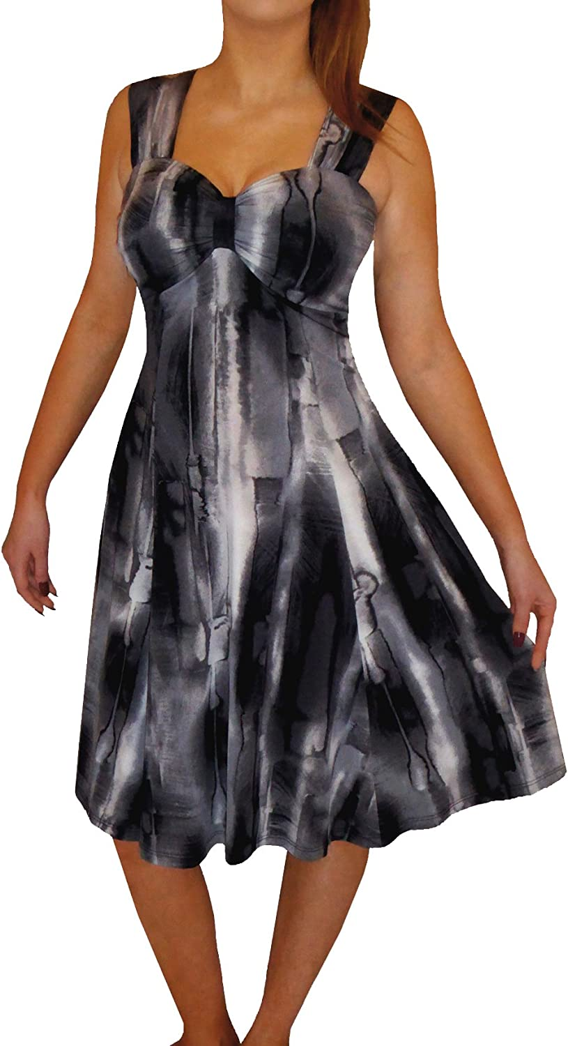 Funfash Plus Size Women Empire Waist A Line Black Cocktail Dress New Made in USA