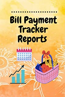 Bill Payment Tracker Reports :: Simple Monthly Invoice Payments Checklist Organizer Planner Record Money Debt Tracker Budg...