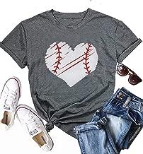 Cute Baseball Graphic Tee Shirts for Women Teen Girls Junior Short Sleeve Casual Summer Graphic Tee Shirts Top