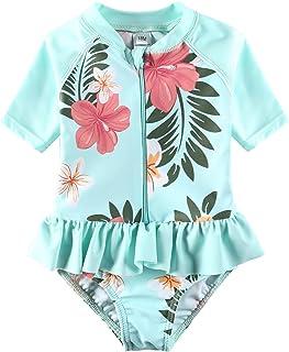 4f8fae98930e6 Vivafun Baby Girl Sun Protective Swimwear Infant Toddler Rash Guard Shirt