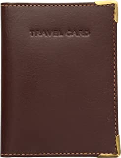 Visconti Leather Oyster Card/Travel Pass Holder with Metal Corner Protectors TC5 Chocolate