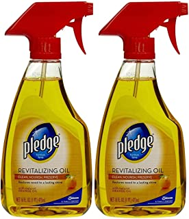 Pledge Revitalizing Oil With Natural Orange Oil, 16 Fl Oz (Pack of 2)