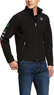 Men's New Team Softshell Mexico Jacket, Black