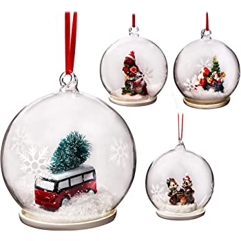 Snow White Branded Pack of 12 Deluxe Red 8cm Christmas Tree Baubles