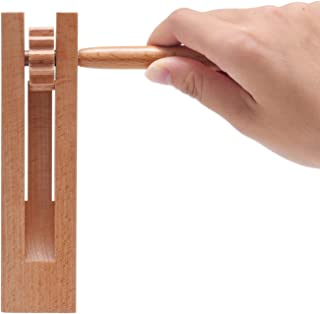 2 Pack Wooden Spinning Ratchet Noise Maker Grogger, Traditional Matraca for Parties, Sports Events and Celebrations