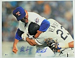 Nolan Ryan & Robin Ventura FIGHT 16x20 Dual Autographed Signed Photo Beckett