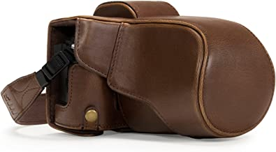 MegaGear Ever Ready Leather Camera Case Compatible with Olympus OM-D E-M5 Mark II 12-40mm