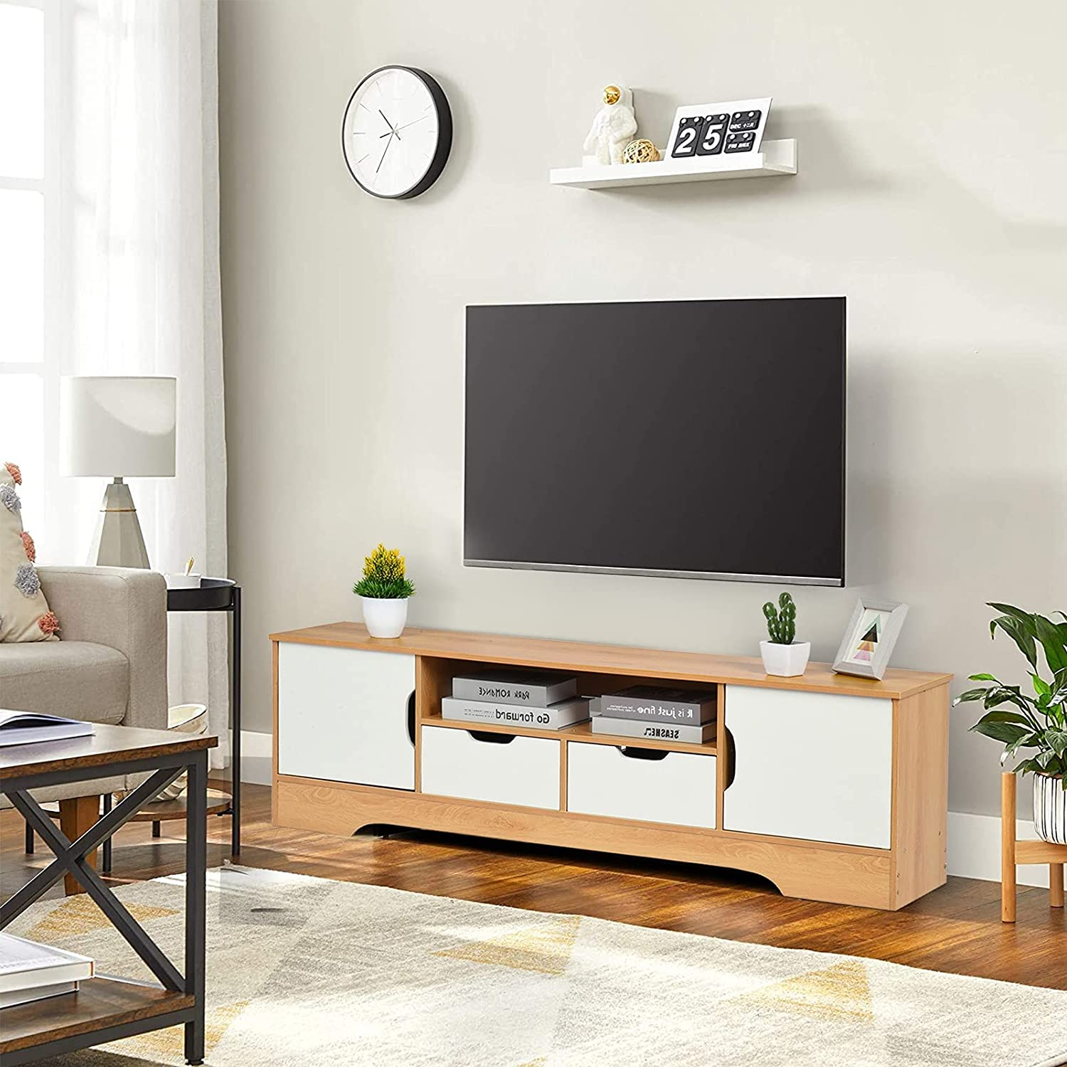 JOSHUA Modern TV Cabinet Stand Gamin Cable Box A surprise price is realized Virginia Beach Mall Console