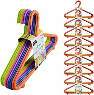 100 Kids Hangers Clothes Coat Multi Coloured Children Plastic Child Baby  100 Hangers