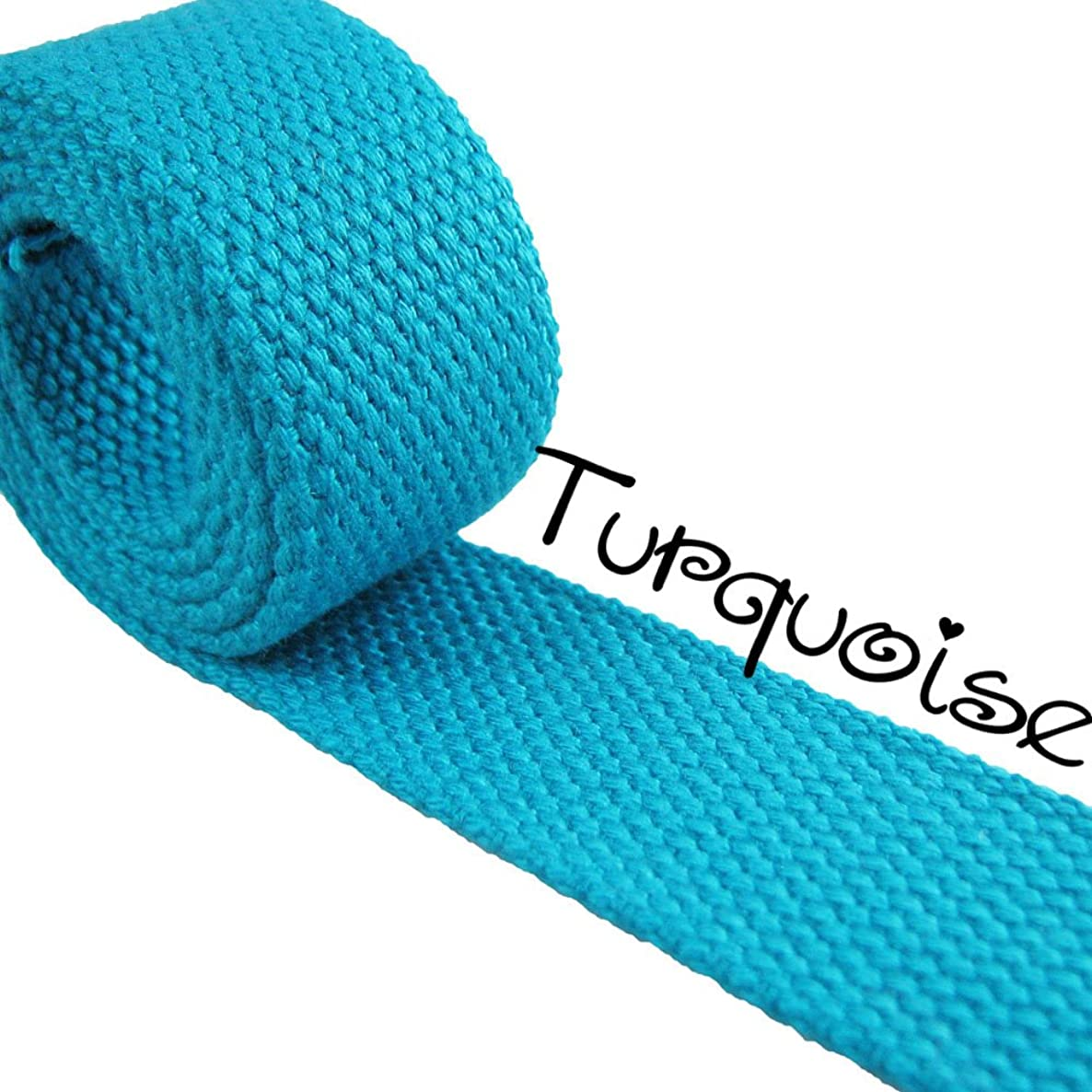 Turquoise - Heavy Canvas Webbing Roll 1.25