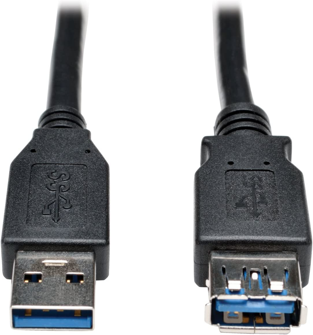 6 U324-006-BK A Male to A Female 6-ft Black Tripp Lite 6-Feet USB 3.0 Super Speed 5Gbps Extension Cable