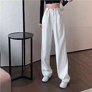 High Waist Black White Jeans For Women Fashion Wide Leg Denim Streetwear Vintage Mom Jeans Harajuku Boyfriend Straight Pants