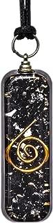 EMF Protection Orgone Pendant Black Tourmaline Necklace – Psychic Healing Orgone Energy Generator Tourmaline Crystal Orgonite Pendant – Chakra Balancing Negative Entity Protection Meditation