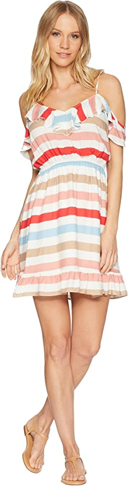 "Meredith ""Beach Ball Stripe"" Printed Dress"