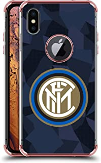 Official Inter Milan Third 2017/18 Crest Kit Rose Shockproof Fender Case Compatible for iPhone Xs Max