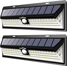 LITOM Solar Lights 102 LED Solar Power Outdoor Motion Sensor Light with LED on Both Side-2 Pack, LTCD127AB