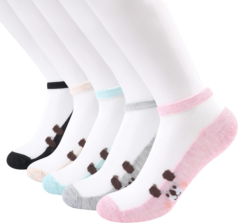 Sheer Mesh Transparent No Show Socks For Women - Ultrathin Fishnet See Through Ankle Sock
