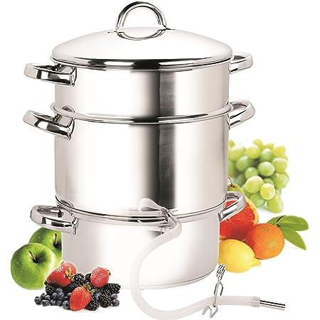 Cook N Home, 28cm 11-Quart Stainless Steel Fruit Juicer Steamer Multipot, Silver