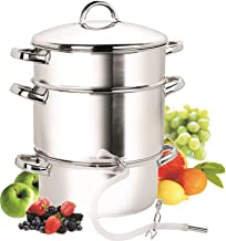 Cook N Home NC-00256 28cm 11-Quart Stainless Steel Fruit Juicer Steamer Multipot, Silver