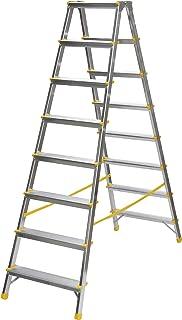 Aluleiter Anlegeleiter Leiter 8 Sprossen 34 x 230cm #23040