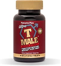 NaturesPlus Ultra T Male, Extended Release - 60 Bilayer Tablets - Natural Testosterone Booster For Men - Healthy Sexual Function, Muscle Gain - Vegetarian, Gluten-Free -30 Servings