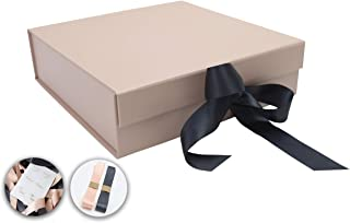 SketchGroup Gift Box with Ribbon – Magnetic Closure - for Luxury Packaging - Assortment l Black l l Pink l (Rose Gold)