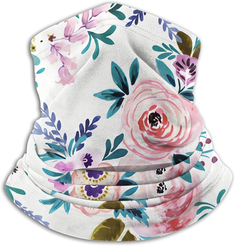 Victoria Floral Rotate Bandanas Neck Gaiter Face Mask Scarf Face Shield Black