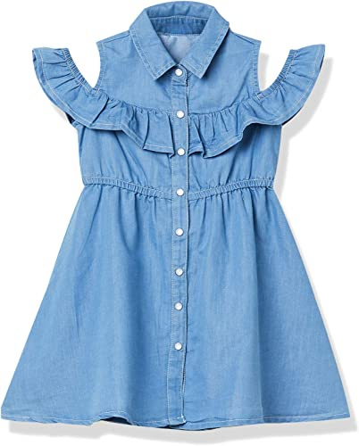 Cotton Dress M20CDRS15MID Blue Mid 7 8Y