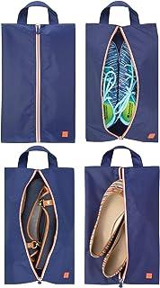 9b0dc1c527 mDesign sac de rangement chaussures (lot de 4) – sac de voyage en polyester