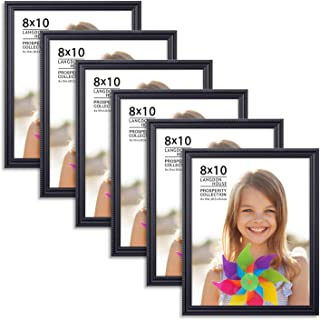 Langdon House 8x10 Picture Frames (6 Pack, Black) Black Picture Frame Set, Wall Mount or Table Top, Set of 6 Prosperity Collection