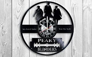 Peaky Blinders TV series Vinyl Record Wall Clock - Get Unique Bedroom or livingroom Wall Decor - Gift Ideas for Boys and Girls Perfect Element of The Interior Unique Modern Art