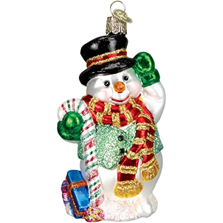 Old World Christmas Ornaments Candy Cane Snowman Glass Blown Ornaments For Christmas Tree Home Kitchen