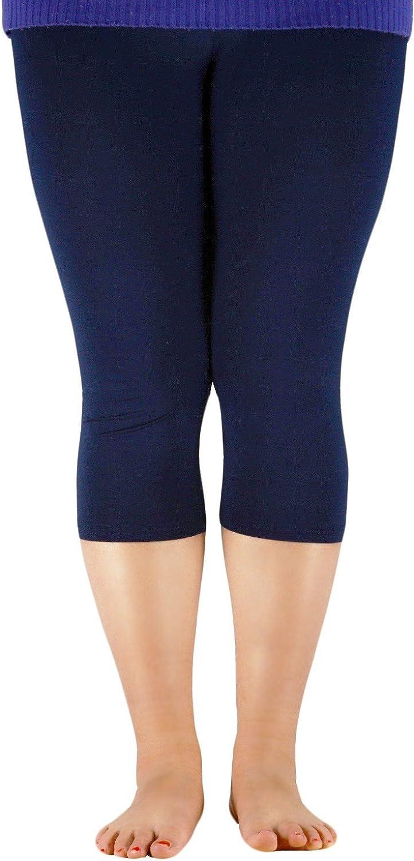 Zando Women Plus Size Leggings Athletic Workout Bamboo Capri Leggings Soft Stretch High Waist Yoga Pants