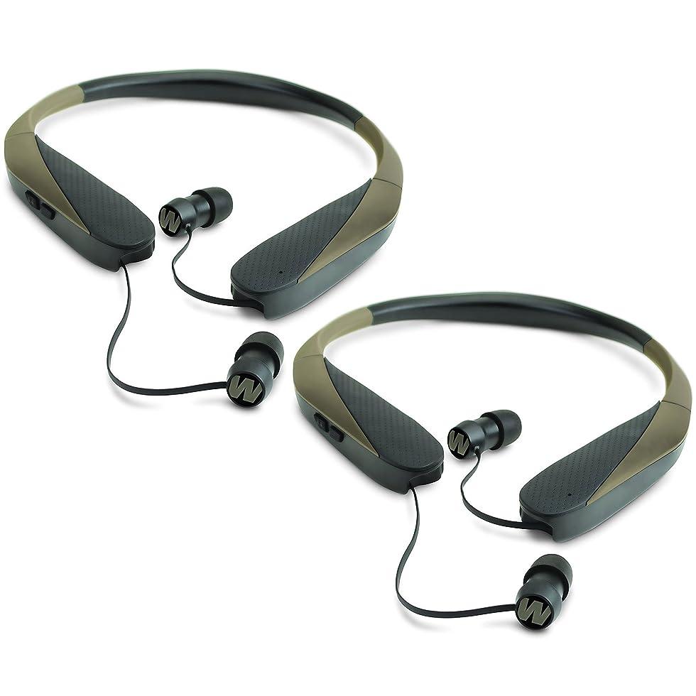 明確に白内障満足ウォーカーRazor X Retractable Huntingデジタルノイズ削減Ear Budヘッドセット(2パック)