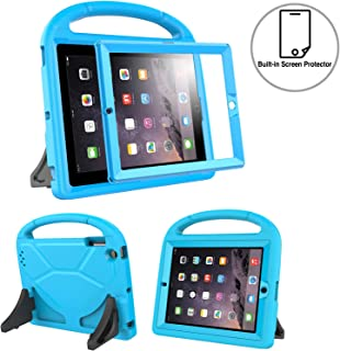 TIRIN Kids Case Built-in Screen Protector for iPad 2 3 4 - Light Weight Convertible Shockproof Handle Stand Kids Friendly for iPad 2nd 3rd 4th Generation Old Model (Blue)