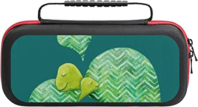 $26 » Sweet Turtle Hugs With Heart In Teal Lime Green And Turquoise Case Compatible with Switch Case Protective Carry Bag Hard S...