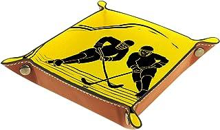 Joueur de Hockey Jaune Boîte de Rangement Panier Organisateur de Bureau Plateau décoratif approprié pour Bureau à Domicile...