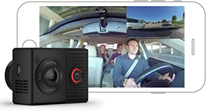 Garmin Dash Cam Tandem, Front and Rear Dual-lens Dash Camera With Interior Night Vision, Two 180-degree Lenses, Front-Facing Lens with 1440p, Interior-Facing Lens with 720p