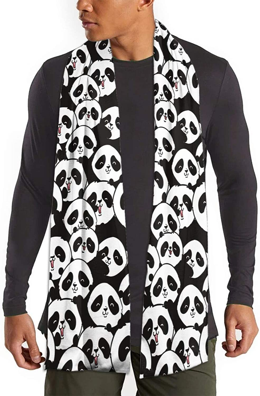 Womens Winter Scarf Hipster Panda Funny Kawaii Wraps Warm Pashmina Shawls Gift Reversible Soft For Girls
